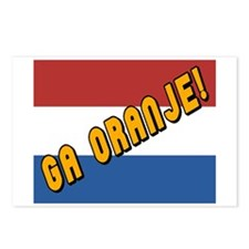 Ga oranje Flag Postcards (Package of 8)