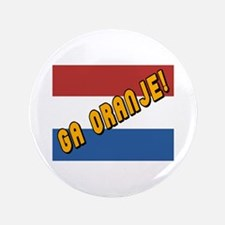 "Ga oranje Flag 3.5"" Button"