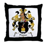 Pruner Family Crest Throw Pillow