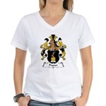 Pruner Family Crest Women's V-Neck T-Shirt