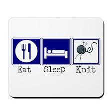 Eat, Sleep, Knit Mousepad