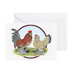 Belgian d'Uccle Bantams Greeting Cards (Pk of 20)