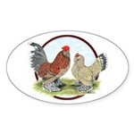 Belgian d'Uccle Bantams Oval Sticker (10 pk)