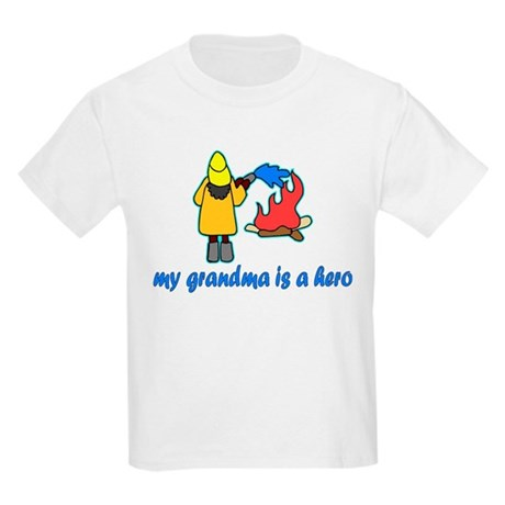 """My grandma is a hero"" fire fighter Kids T-Shirt"