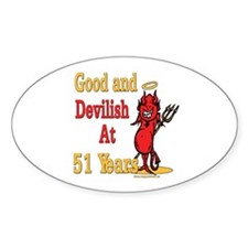 Devilish at 51 Oval Decal