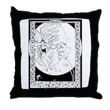 Gypsy Moth Throw Pillow