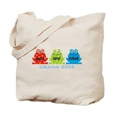 Obama Frogs Yes We Can Tote Bag