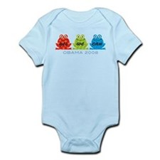 Obama Frogs Yes We Can Infant Bodysuit