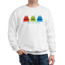 Obama Frogs Yes We Can Sweatshirt