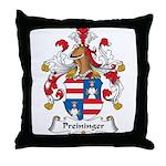 Preininger Family Crest Throw Pillow