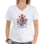 Preininger Family Crest Women's V-Neck T-Shirt
