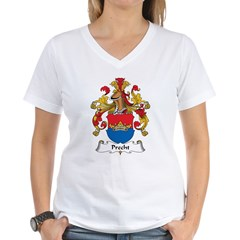 Precht Family Crest Women's V-Neck T-Shirt
