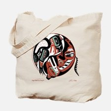 Eagle Wolf Yin-Yang Tote Bag