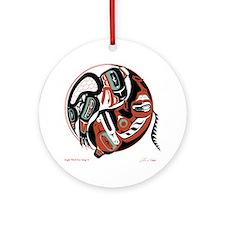 Eagle Wolf Yin-Yang Ornament (Round)