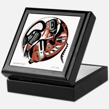 Eagle Wolf Yin-Yang Keepsake Box