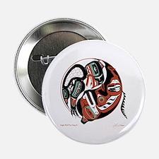 "Eagle Wolf Yin-Yang 2.25"" Button (10 pack)"