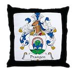 Prangen Family Crest Throw Pillow