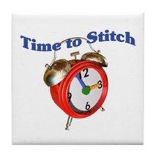 Time To Stitch - Crafts Tile Coaster