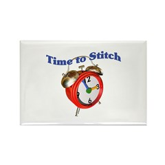 Time To Stitch - Crafts Rectangle Magnet (10 pack)