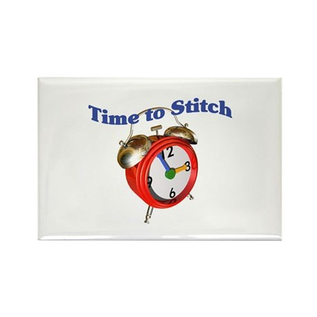 Time To Stitch - Crafts Rectangle Magnet