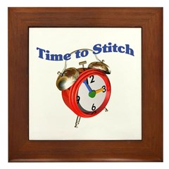 Time To Stitch - Crafts Framed Tile