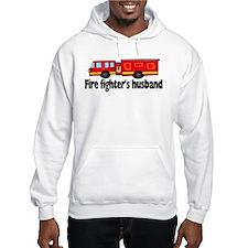 """Fire Fighter's Husband"" w/truck Hoodie"