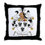 Pohlmann Family Crest Throw Pillow