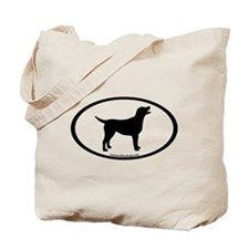labrador retriever oval Tote Bag