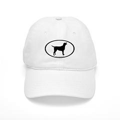 labrador retriever oval Baseball Cap