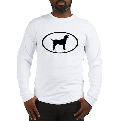 labrador retriever oval Long Sleeve T-Shirt