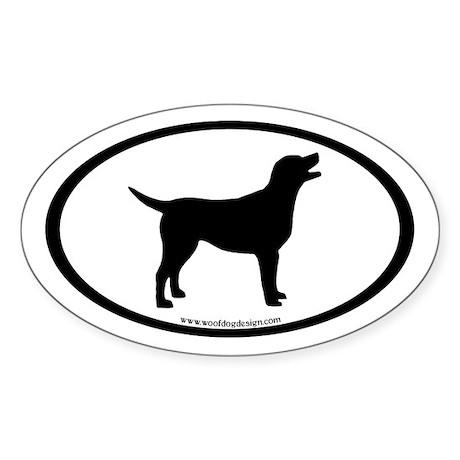 labrador retriever oval Oval Sticker (10 pk)