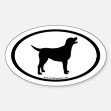 labrador retriever oval (inner bdr) Oval Decal