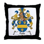 Pohle Family Crest Throw Pillow