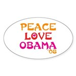 Obama Change Oval Sticker