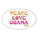 Obama Change Oval Sticker (50 pk)