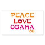Obama Change Rectangle Sticker 10 pk)