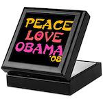 Peace, Love, Obama Keepsake Box
