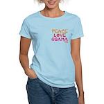 Peace, Love, Obama Women's Light T-Shirt