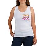 Peace, Love, Obama Women's Tank Top
