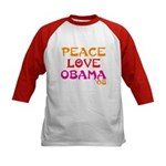 Peace, Love, Obama Kids Baseball Jersey
