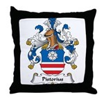 Pistorius Family Crest Throw Pillow