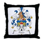 Pistor Family Crest Throw Pillow