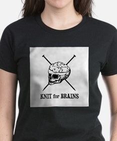 Knit for Brains - Brains Skull Tee