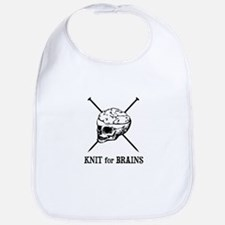 Knit for Brains - Brains Skull Bib