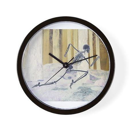 Run Skeleton Wall Clock