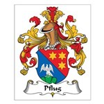 Pflug Family Crest Small Poster