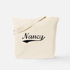 Vintage Nancy (Black) Tote Bag