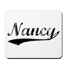 Vintage Nancy (Black) Mousepad