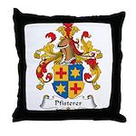 Pfisterer Family Crest Throw Pillow