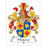 Pfisterer Family Crest Small Poster